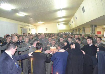49-Rezanje slavskog kolaca kasarna Raska 2017