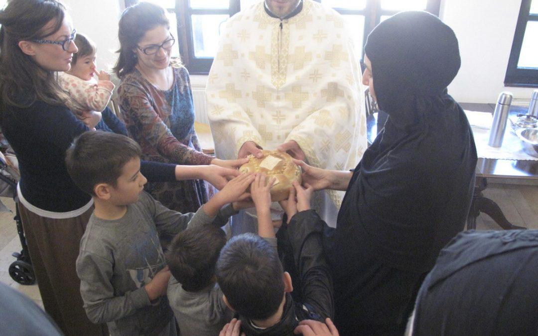 Литургијско сабрање на Светог Нектарија Егинског