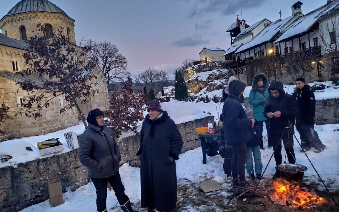 Бадње вече у манастиру Градац 2020